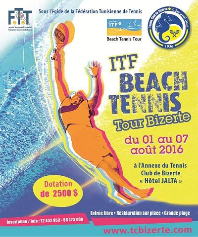 ITF Beach Tennis - Tour Bizerte du 1er au 6 Août 2016